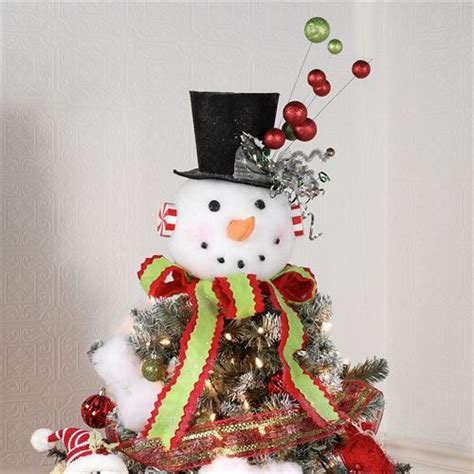 snowman christmas tree topper  table accent