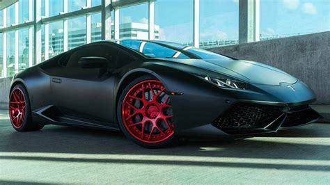 Matte Black Wrap And Red Rims