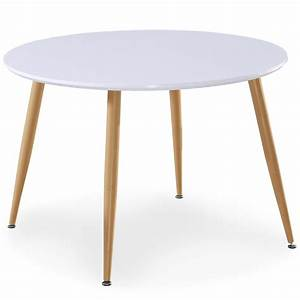 Table Basse Scandinave Ronde : table ronde scandinave lola blanc ~ Teatrodelosmanantiales.com Idées de Décoration