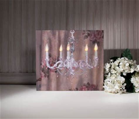 Flickering Light Canvas by Chandelier W Flickering Lights Radiance Lighted Canvas