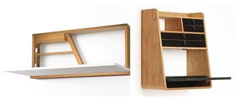 bureau mural petit bureau gain de place mini bureau mural bois design à