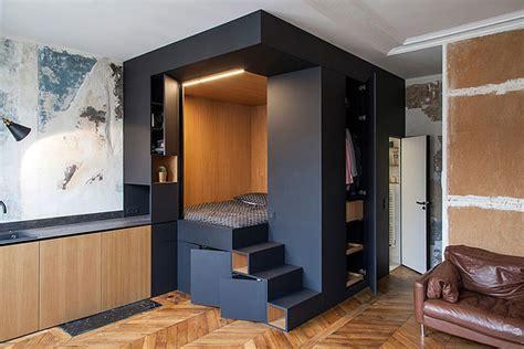 birbirinden sik ve kullanisli  stuedyo daire tasarimi