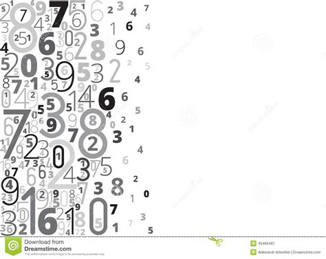 number background stock vector image