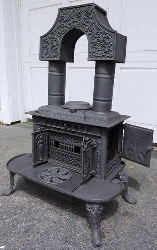 hoffman potts column parlor wood stove circa