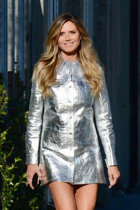 Heidi Klum Silver Futuristic Dress