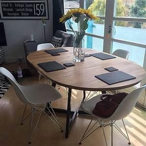Runder Esstisch Holz Ausziehbar : extendable round table modern design steel and timber happylab pinterest tisch esstisch ~ Markanthonyermac.com Haus und Dekorationen