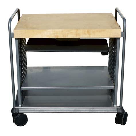 steelcase under light steelcase mobil computer cart workstation oak ebay