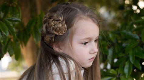 side triple flower cute girls hairstyles youtube