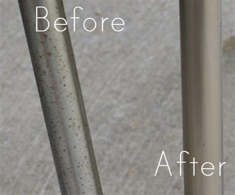 rust table chrome legs metal removing remove chairs diy clean flea revamp market cleaner water