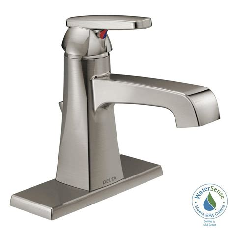 Single Bathroom Faucet by Delta Ashlyn Single Single Handle Bathroom Faucet