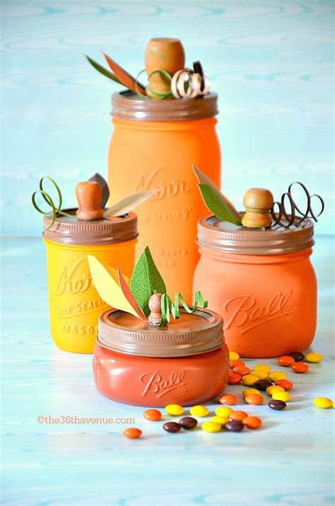 simple   diy thanksgiving jar crafts shelterness