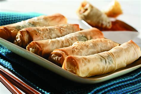 It is very forgiving to work with and easy to roll out. Phyllo Pastry Spring Rolls - Eat Well