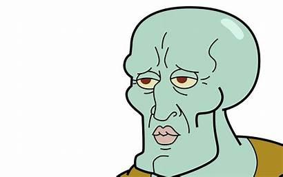Squidward Meme Handsome Wallpapers Face Desktop Spongebob