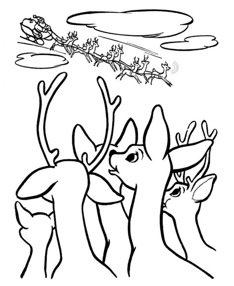 rudolph the nosed reindeer pictures coloring