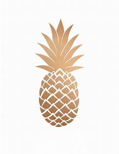 Gold Pineapple Clipart - ClipartXtras
