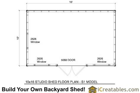 10x16 Shed Plans Pdf by 10x16 Studio Shed Plans S1 10x12 Office Shed Plans