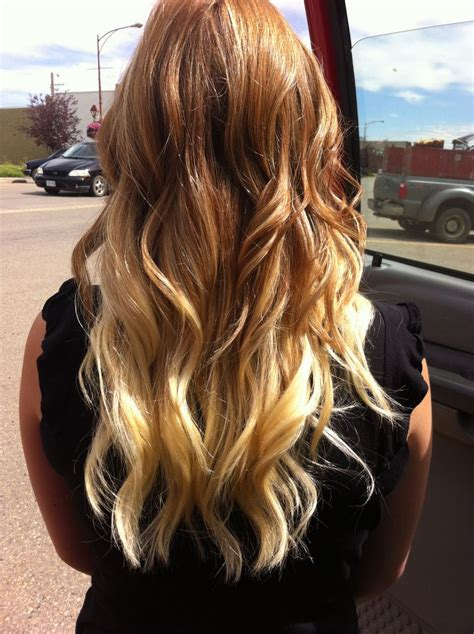 Red To Blonde Ombre Hair Pinterest Red To Blonde