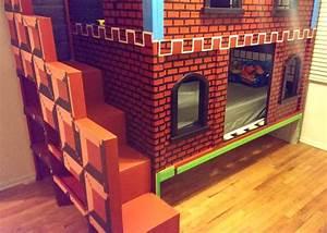 Il Construit Un Lit Superpos Mario Pour Son Enfant Le