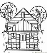 Coloring Tree Pages Houses Printable Magic Adult Colouring Treehouse War Sweet Civil Coloringpages101 Clipart Architecture Pdf Para Colorear Sheets Victorian sketch template