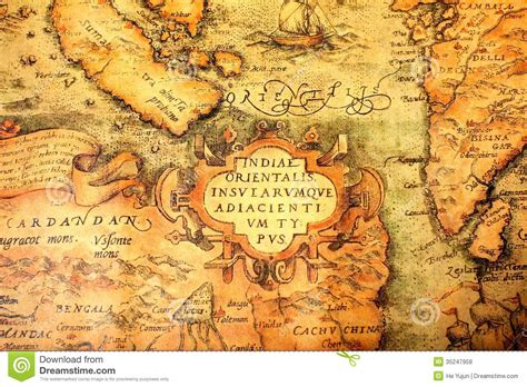 ancient global map royalty  stock  image