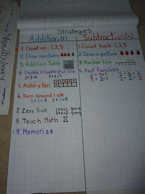 love  teach math oa addition anchor charts