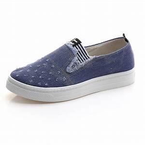 High Quality Womenu0026#39;s Jeans Shoes flats Fashion Casual Denim Shoes Soft Soles Students Canvas ...
