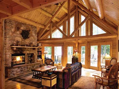 Interior Of Log Homes Updating A Classic Log Cabin In Maryland