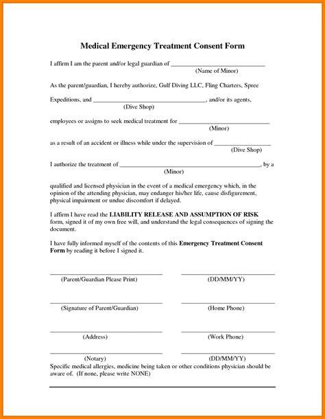 printable medical consent form  minor child