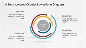 4 Steps Layered Circular Powerpoint Diagram