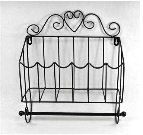 towel holder shelf metal iron bathroom towel rack roll holder magazine 2879