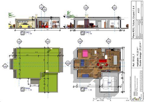 plan maison plain pied 3 chambres en l maison plain pied moderne 100m2 maison moderne