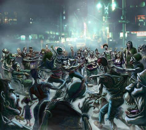 zombies attack zombie apocalypse wolverine invasion would deviantart comic superheros drawing fare