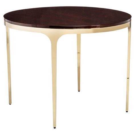 modern brass table l eda brass modern eucalyptus round center dining table