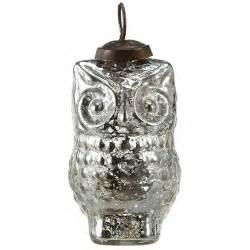 silvered 4 quot owl tree ornaments set 12 antique glass christmas decor nova68 com