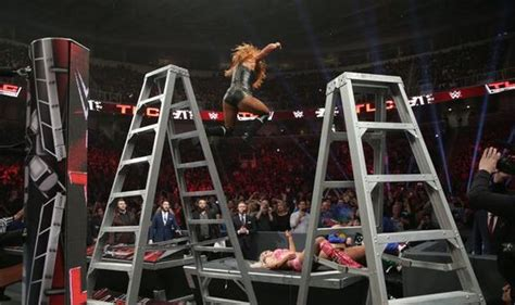 wwe tlc  becky lynch destroy charlotte flair moments