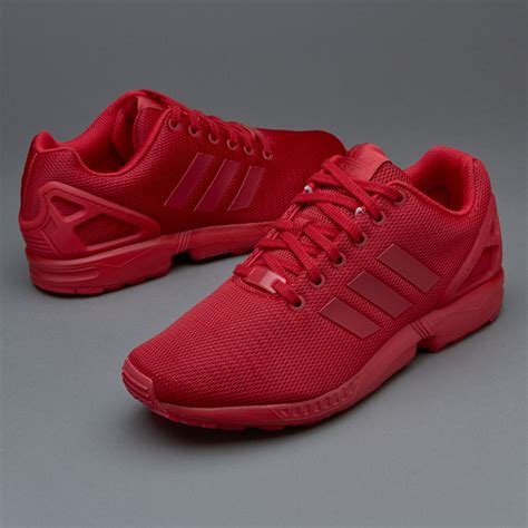 mens shoes adidas originals zx flux power red