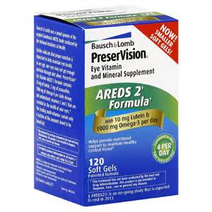 Bausch & Lomb Bausch & Lomb PreserVision Eye Vitamin and Mineral Supplement, AREDS 2 Formula, Soft Gels 120 gels