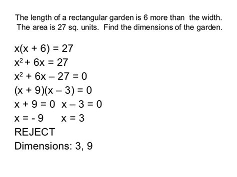 Solving Quadratic Word Problems Worksheet Answers  Kidz Activities