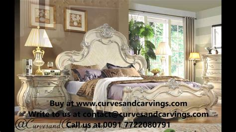 buy designer luxury beds bedroom sets   india