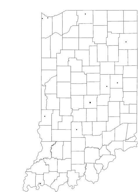 blank indiana city map