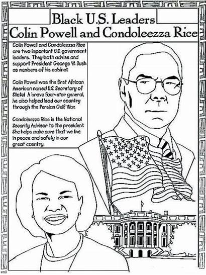 Coloring History Sheets American African Month Printable