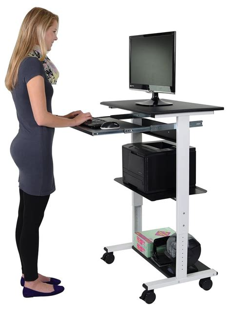 stand up computer stand for desk best 25 stand up workstation ideas on pinterest