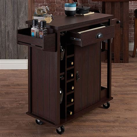 espresso kitchen cart espresso kitchen carts easy home concepts 3594