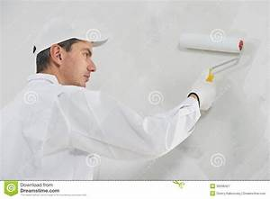 House Painter At Work Royalty Free Stock Photography ...