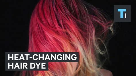 Fire Dye Changes The Color Of Your Hair Based On Heat