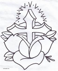 COLORING CROSS HEART PAGE « Free Coloring Pages