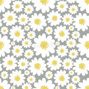 Daisies seamless pattern stock vector. Illustration of ...