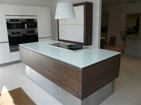 glass top kitchen island picture