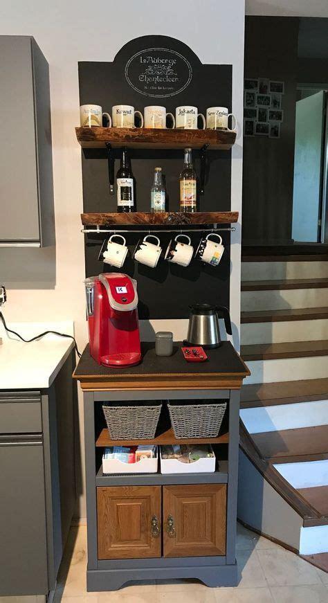 Keep lights near the register area and over the bar. 30+ Best Home Coffee Bar Ideas for All Coffee Lovers | Decoração cozinha rustica, Decoração ...