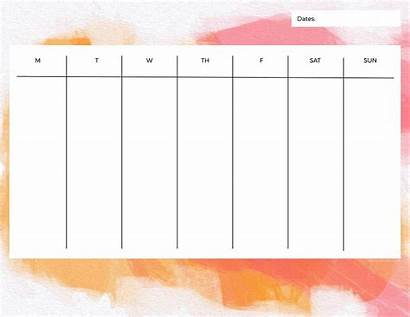 Weekly Printable Calendars Week Ohsolovelyblog Organizers